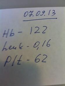 Sept. 7, 2013 HB - 122 Leuk - 0.16 Plt. - 62