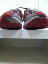 The tennis shoes I was wore before HSCT.